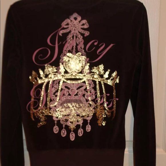 008c0293b24f Juicy Couture chandelier velour track jacket